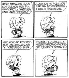 Miguelito Mafalda Quotes, Lucky Luke, Humor Grafico, Amazing Adventures, Narnia, Funny Comics, Quotes To Live By, Words, Memes