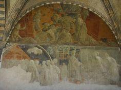 Paolo Uccello - Storie della Genesi: Il diluvio Universale - Ebbrezza di Noè - 1425-1430 - Chiostro Verde - Museo di Santa Maria Novella, Firenze