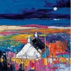 http://www.jolomo.com/jolomo/home.html        John Lowrie Morrisson.    Reminders of lovely holidays spent on the Isle of Mull. We have a print of this, very much like the cottage we holidayed in, although the painting is actually of the Isle of Bute.