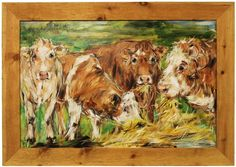 ARTFINDER: Lazy Grazing by Lynne Wilkinson at Heartbeat Gallery - Vivid Colors, Colours, Sign Printing, Brush Strokes, Paintings For Sale, Pet Portraits, Impressionism, Landscape Paintings, Oil On Canvas