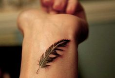 feather wrist tattoos