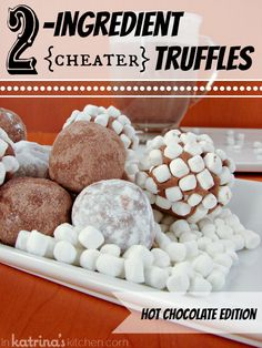 2 Ingredient Hot Chocolate Truffles - The easiest truffles you'll ever make. These 2 ingredient truffles are NO FUSS, creamy, and perfect to dunk into hot milk to make hot chocolate. Hot Chocolate Mix, Chocolate Truffles, Chocolate Brownies, Chocolate Covered, Chocolate Chips, Just Desserts, Delicious Desserts, Yummy Food, Healthy Food