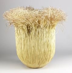 Mary Merkel Hess | Large paper and paper cord basket, ''Campana''