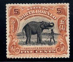 North Borneo Five Cent