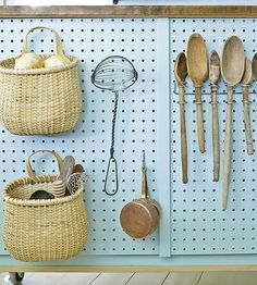 DIY Island Storage.  Love the baskets for onions and potatoes