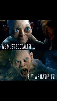 "awesome-bluehair-universe: ""Gollum is always right "" Memes Humor, Haha, Funny Quotes, Funny Memes, Funny Gym, That's Hilarious, Infp Personality, Introvert Humor, Pokemon"