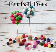 Felt Ball Trees :: Hometalk