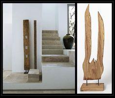 Para un salón en color blanco, Original House, te propone incorporar algún elemento decorativo en madera natural como esta figura que puedes encontrar en nuestra tienda de Madrid. http://www.originalhouse.info/