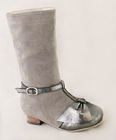 Look what I found on #zulily! Charcoal Cabria Boot & Hair Clip - Kids #zulilyfinds