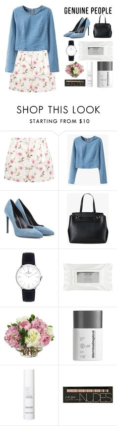 """""""crop top genuine"""" by rputriwidyastri ❤ liked on Polyvore featuring RED Valentino, Yves Saint Laurent, Stila, Diane James, Dermalogica, This Works and Genuine_People"""