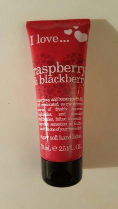 I Love...Raspberry & Blackberry Super Soft Hand Lotion, 2.5 fl oz, new.
