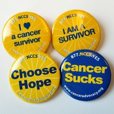 Cancer Buttons 4-pack NCCS