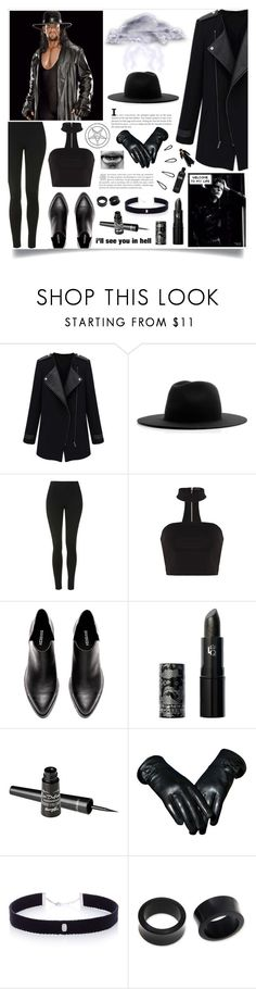 """♥{ The Undertaker Genderbend }♥"" by wwelover02 ❤ liked on Polyvore featuring Études, Topshop, Lipstick Queen, Barry M, AS29, NOVICA, Old Navy, WWE and Theundertaker"