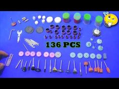 Para que serve cada acessório da micro retifica ? ( Kit 136 Pcs) - YouTube