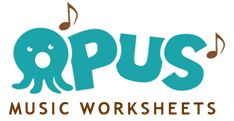 Opus Music Worksheets - 13 Lessons including Basic Rhythm, Ledger Lines, Time Signatures, Note Values, etc.