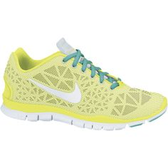 Nike Free TR Fit 3 Breathe Women's Training Shoes - Volt, 5.5 ($95) ❤ liked on Polyvore