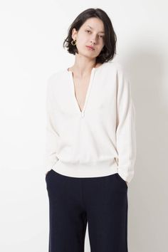 Molli eleonore 100% ultra-fine pure new wool zio-up top - wendela van dijk