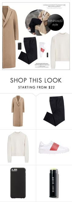 """""""minimalist style"""" by little-curly-juli ❤ liked on Polyvore featuring Brunello Cucinelli, Tory Burch, Acne Studios, Valentino, Case-Mate, Bobbi Brown Cosmetics and Minimaliststyle"""