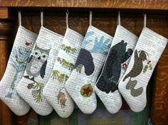Love this Laura Heine stocking design Stopping by the Woods http://www.fiberworks-heine.com/shop/