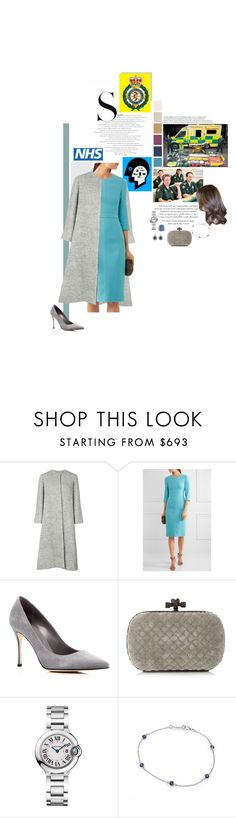 """Untitled #2507"" by duchessq ❤ liked on Polyvore featuring Emilia Wickstead, Michael Kors, Sergio Rossi, Bottega Veneta, Cartier and Tiffany & Co."