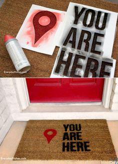 DIY DECORATIVE DOOR MAT