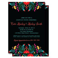 Fiesta Mexican Couples Shower Invitations, Rehearsal Dinner Invitation, Printable or Printed Mexican Invitations, Couples Shower Invitations, Rehearsal Dinner Invitations, Party Invitations, Invitation Ideas, Rehearsal Dinners, Baby Shower Invitaciones, Mexican Party, Couple Shower