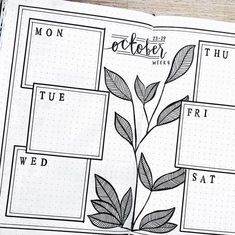 Bullet journal weekly layout, plant drawing, simple and clean bullet journal layout. Bullet journal weekly layout, plant drawing, simple and clean bullet journal layout. Bullet Journal Décoration, Bullet Journal Simple, Bullet Journal Weekly Layout, Bullet Journal Ideas Pages, Bullet Journal Spread, Bullet Journal Inspiration, Bullet Journal Cleaning, Bullet Journal October, Bullet Journal Collections