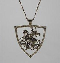 Pingente São Jorge joia masculina joia exclusiva