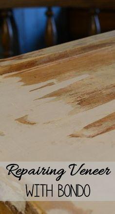 Repairing furniture with Bondo. Flyingc-diy.com