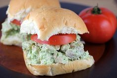 Basil Chicken Salad ~ I want to try this with Greek yogurt and a little bit of lemon juice instead of the mayonnaise.