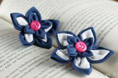 "Kanzashi Haargummies ""Blue&Pink"" Bunt, Baby Shoes, Accessories, Fashion, Hair Fascinators, Moda, Fashion Styles, Fashion Illustrations, Fashion Models"