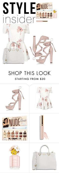 """""""Untitled"""" by lisztomania15 ❤ liked on Polyvore featuring River Island, MICHAEL Michael Kors, contestentry, laceupsandals and PVStyleInsiderContest"""