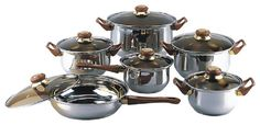 18/10 STAINLESS STEEL Gourmet Chef 12-piece Covered Cookware Set Pots and Pans ** Find out more about the great product at the image link.