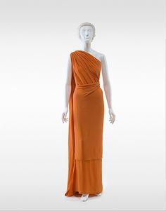 ~Evening dress Madeleine Vionnet (French, Chilleurs-aux-Bois 1876–1975 Paris) Date: ca. 1936 Culture: French Medium: silk~