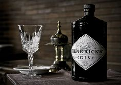 Hendrick's Gin, along with other alcoholic drinks available here. Hendrick's Gin, Gin And Tonic, Gin Bottles, Vodka Bottle, Brooklyn Gin, Scottish Gin, Premium Gin, Gin Brands, Masterchef