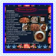 SW bonfire bangers Slow Cooker Recipes, Diet Recipes, Cooking Recipes, Healthy Recipes, Kidney Beans, Slimming World Recipes, Curry Powder, Garam Masala