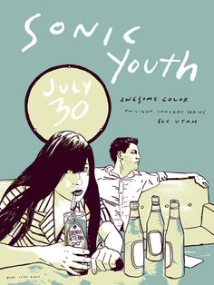 sonic youth music gig posters | Sonic Youth Concert Poster by Casey Burns