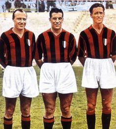 Gunnar Gren, Gunnar Nordahl y Nils Liedholm, formadores del Gre-No-Li. - AC Milan