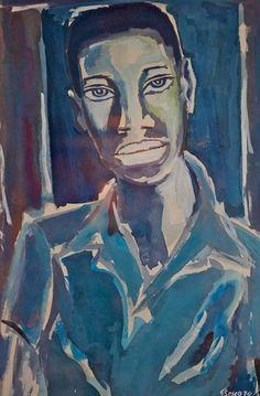 Sekoto, Portrait of a young man