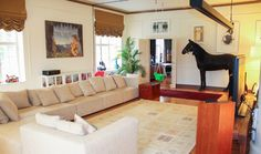 """Horse in the living room as seen on tv show """"Suomen kaunein koti"""""""