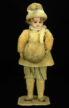 Antique Victorian German Wax and Cotton Batting Christmas Candy Container ca1880 | eBay