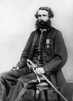 Draughtsman, artist, surveyor, explorer, soldier and public servant Charles Heaphy wearing the Victoria Cross he was awarded in Stylish Beards, New Zealand Art, History Online, Braveheart, Contemporary Artwork, British Army, Military History, Victorian Era, New Art
