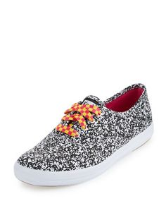 Keds+Double+Dare+Printed+Sneaker,+Black/White+by+Story+at+Neiman+Marcus.