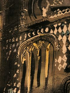 Norwich Market, Guildhall Detail, John Piper P1018272 | Flickr - Photo Sharing! John Piper Artist, Norwich Market, Just Ink, Collage Art Mixed Media, A Level Art, Abstract Painters, Urban Sketching, Line Drawing, Richard Iii