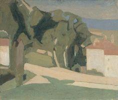 giorgio morandi - paesaggio (campagna), 1935, oil on canvas.
