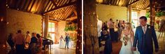 Beautiful #wedding at The Barn at Bury Court. #Bride and #groom entrance.