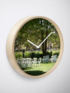 """""""Set for I do - Adelaide wedding - Fleurieu Peninsula wedding - by South Australian artist Avril Thomas"""" Clock by MagpieSprings 