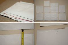 Easy idea to hang a collage of frames! Just click on the photo to see how!