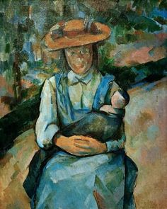 Paul Cézanne - Young girl with doll