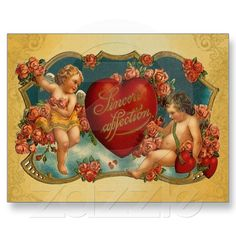 Vintage Cupid Valentine postcards